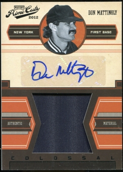2012 Panini Prime Cuts Colossal Memorabilia Signatures #10 Don Mattingly 11/25