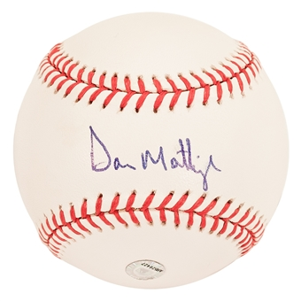 Don Mattingly Autographed New York Yankees Official Major League Baseball (Steiner & MLB)