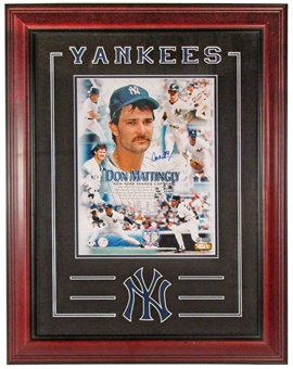 Don Mattingly Autographed NY Yankees Framed Photograph (Mounted Memories COA)