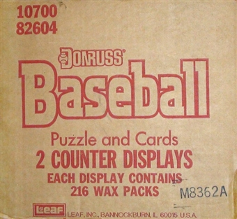 1989 Donruss Baseball Counter Display Case