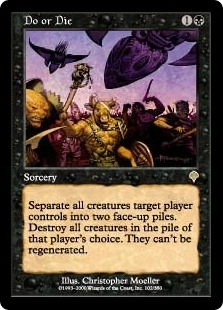 Magic the Gathering Invasion Single Do or Die FOIL