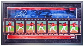 David Ortiz Autographed & Framed Panoramic Photo Limited #1/100 (UDA COA)