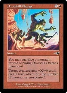 Magic the Gathering Nemesis Single Downhill Charge FOIL