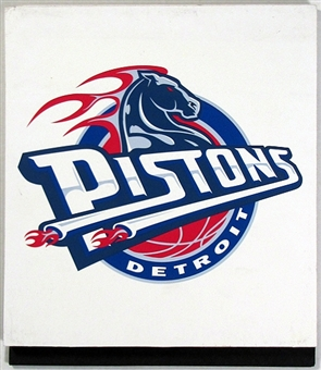 Detroit Pistons 2004 NBA Draft Board Team Logo Panels