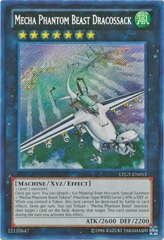 Yu-Gi-Oh Lord Tachyon Galaxy Single Mecha Phantom Beast Dracossack Secret Rare