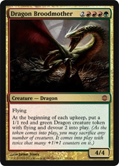 Magic the Gathering Alara Reborn Single Dragon Broodmother FOIL