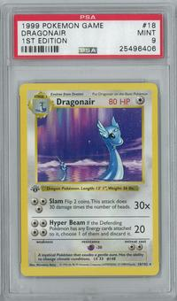 Pokemon Base Set 1 1st Edition Shadowless Single Dragonair 18/102 - PSA 9