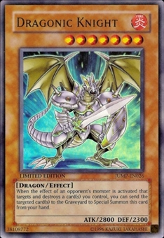 Yu-Gi-Oh Promo Single Dragonic Knight Ultra Rare (JUMP-EN026)
