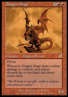 Magic the Gathering Scourge Single Dragon Mage FOIL - MODERATE PLAY (MP)