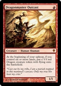 Magic the Gathering Worldwake Single Dragonmaster Outcast Foil