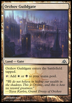 Magic the Gathering Dragon's Maze Single Orzhov Guildgate FOIL - NEAR MINT (NM)