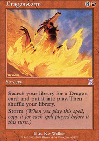 Magic the Gathering Time Spiral Single Dragonstorm Foil
