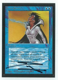 Magic the Gathering Beta Artist Proof Drain Power - SIGNED BY DOUGLAS SHULER