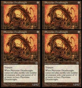 Magic the Gathering Mirage PLAYSET Phyrexian Dreadnought - NEAR MINT (NM)