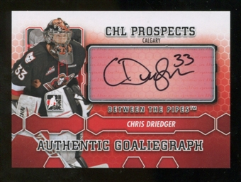 2012/13 In the Game Between The Pipes Autographs #ACD Chris Driedger Autograph