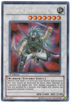 Yu-Gi-Oh Order of Chaos Single Driven Daredevil Secret Rare