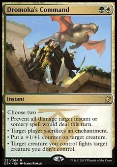 Magic the Gathering Dragons of Tarkir Single Dromoka's Command Foil NEAR MINT (NM)