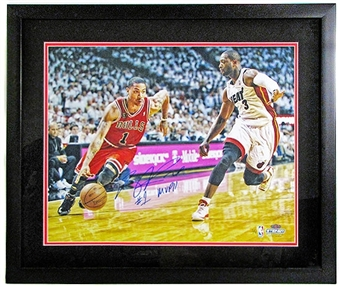 Derrick Rose Autographed & Framed Chicago Bulls 16x20 Photo #5/5 (Steiner COA)