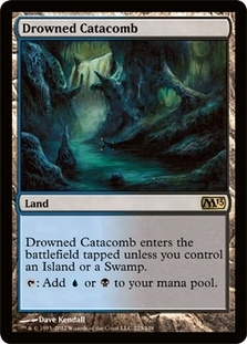 Magic the Gathering 2013 Single Drowned Catacomb - NEAR MINT (NM)