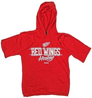 Detroit Red Wings Reebok Red Allegiance Fleece Hoodie (Size X-Large)