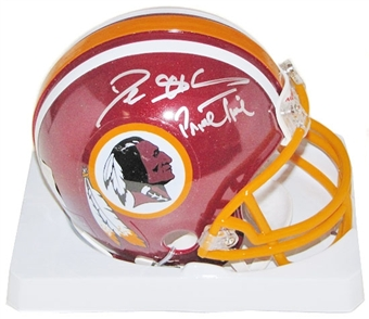 Deion Sanders Autographed Washington Redskins Mini Helmet (PSA COA)