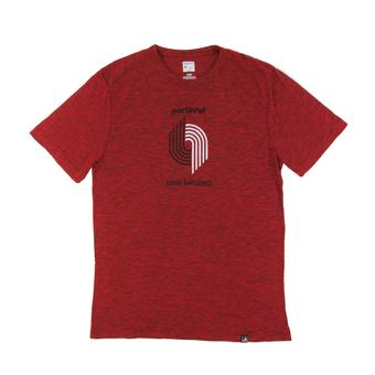 Portland Trail Blazers Majestic Red Hours and Hours Dual Blend Tee Shirt (Adult S)