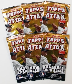 2010 Topps Attax Baseball Booster Pack (Lot of 6)