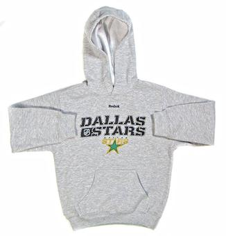 Dallas Stars Reebok Grey Youth Hoodie (Size Small)