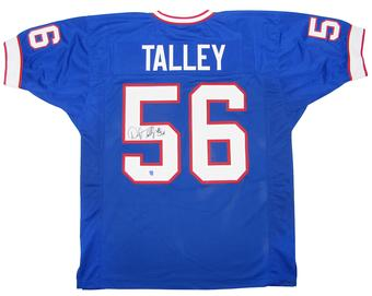 Darryl Talley Autographed Buffalo Bills Blue Football Jersey