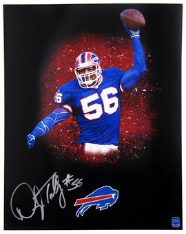 Darryl Talley Autographed Buffalo Bills 11x14 Spotlight Photo