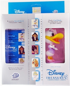 Disney Treasures Trading Cards Box with 1937 Daisy Duck Figure