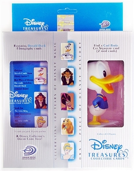Disney Treasures Trading Cards Box with 2000 Millennium Donald Duck Figure