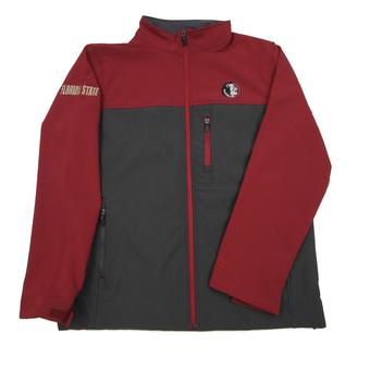 Florida State Seminoles Colosseum Maroon & Grey Yukon II Full Zip Jacket (Adult XXL)