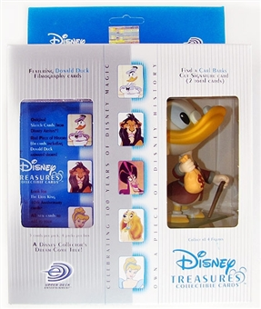 Disney Treasures Trading Cards Box with 1947 Scrooge McDuck Figure