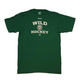 Minnesota Wild Reebok Green Center Ice Collection Tee Shirt (Adult L)