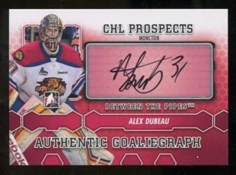 2012/13 In the Game Between The Pipes Autographs #AAD Alex Dubeau Autograph