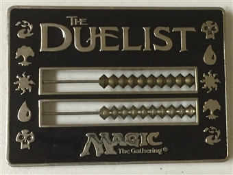 Magic the Gathering The Duelist 1998 Black Metal Abacus Life Counter