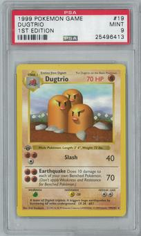 Pokemon Base Set 1 1st Edition Shadowless Single Dugtrio 19/102 - PSA 9