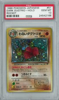 Pokemon Rocket Single Dark Dugtrio Japanese - PSA 10