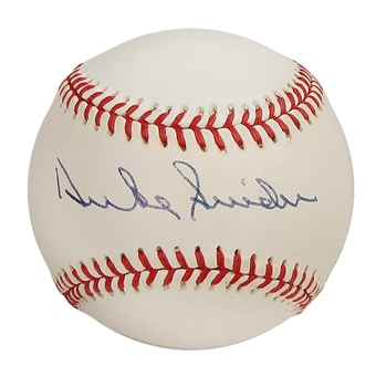Duke Snider Autographed Brooklyn Dodgers National League Baseball (JSA COA)