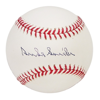 Duke Snider Autographed Official Major League Baseball (PSA COA)