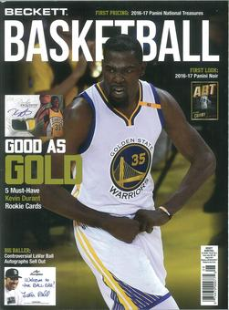 2017 Beckett Basketball Monthly Price Guide (#299 August) (Kevin Durant)