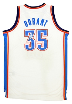 Kevin Durant Autographed Authentic White Oklahmoha City Thunder Jersey Panini Authentics