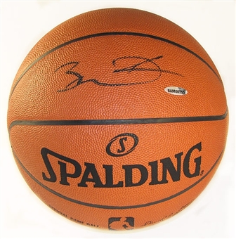 Dwyane Wade Autographed Miami Heat Official Spalding NBA Basketball
