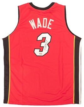Dwyane Wade Autographed Miami Heat Red Basketball Jersey (Hollywood Collectibles)