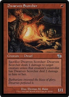 Magic the Gathering Judgment Single Dwarven Scorcher FOIL