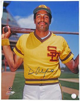 Dave Winfield Autographed San Diego Padres 16x20 Baseball Photo