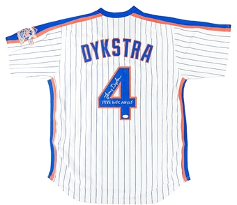 Lenny Dykstra Autographed NY Mets Mitchell & Ness Jersey With TWO Inscriptions (JSA)