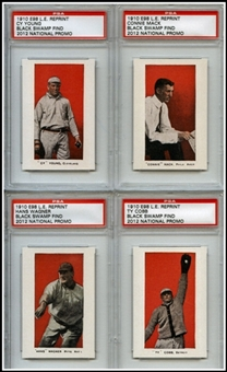 2012 National Convention E98 Special Reprint 4 Card Set/500 w/Wagner and Cobb!