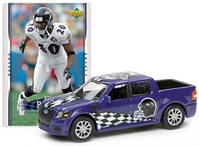 Upper Deck Baltimore Ravens Ed Reed 1:64 Die Cast 2007 Ford SVT